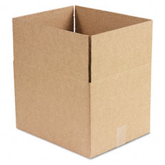 Universal 166183 Corrugated Kraft Fixed-Depth Shipping Carton, 12W X 15L X 10H, Brown, 25/Bundle