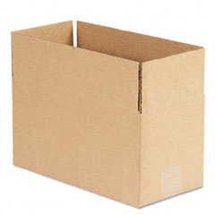 Universal 166206 Corrugated Kraft Fixed-Depth Shipping Carton, 6W X 12L X 6H, Brown, 25/Bundle
