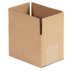Universal 166354 Corrugated Kraft Fixed-Depth Shipping Carton, 4W X 6L X 4H, Brown, 25/Bundle