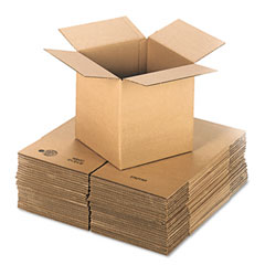 Universal 166437 Corrugated Kraft Fixed-Depth Shipping Carton, 12W X 12L X 12H, Brown, 25/Bundle