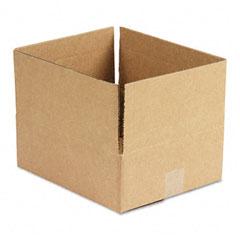 Universal 166535 Corrugated Kraft Fixed-Depth Shipping Carton, 10W X 12L X 4H, Brown, 25/Bundle