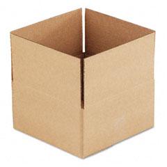 Universal 166538 Corrugated Kraft Fixed-Depth Shipping Carton, 12W X 12L X 6H, Brown, 25/Bundle
