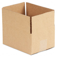 Universal 166754 Corrugated Kraft Fixed-Depth Shipping Carton, 6W X 8L X 4H, Brown, 25/Bundle