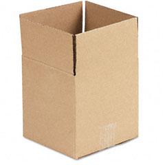 Universal 166976 Corrugated Kraft Fixed-Depth Shipping Carton, 7W X 7L X 7H, Brown, 25/Bundle