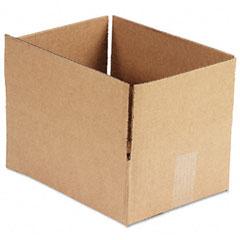 Universal 166982 Corrugated Kraft Fixed-Depth Shipping Carton, 9W X 12L X 4H, Brown, 25/Bundle