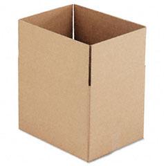 Universal 167026 Corrugated Kraft Fixed-Depth Shipping Carton, 12W X 16L X 12H, Brown, 25/Bundle