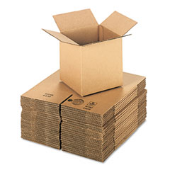 Universal 167067 Corrugated Kraft Fixed-Depth Shipping Carton, 8W X 8L X 8H, Brown, 25/Bundle