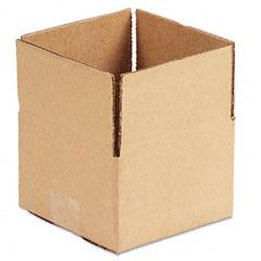 Universal 179532 Corrugated Kraft Fixed-Depth Shipping Carton, 6W X 6L X 4H, Brown, 25/Bundle