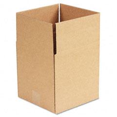 Universal 179548 Corrugated Kraft Fixed-Depth Shipping Carton, 9W X 9L X 9H, Brown, 25/Bundle