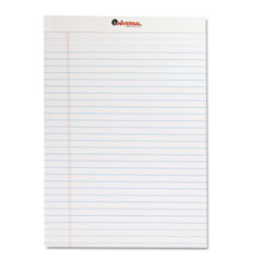 Universal - perforated edge writing pad, legal ruled, letter, white, 50-sheet, dozen, sold as 1 dz