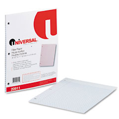 Universal - mediumweight 16-lb. filler paper, 11 x 8-1/2, college ruled, white, 100 shts/pk, sold as 1 pk