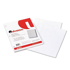 Universal 20923 Mediumweight 16-Lb. Filler Paper, 11 X 8-1/2, Wide Ruled, White, 200 Sheets/Pk