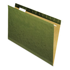 Universal - reinforced recycled hanging folder, 1/5 cut, legal, standard green, 25/box, sold as 1 bx