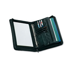 Universal 25650 Zip-Around Padfolio, Vinyl, 14-1/2 X 2-3/4 X 11-1/2, Black