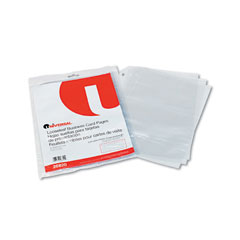 Universal - business card binder pages, 20 cards/letter page, clear, 10 pages/pack, sold as 1 pk