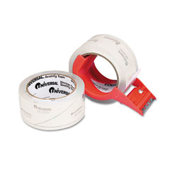 "Universal 31102 Mailing & Storage Tape, 2"" X 55 Yards, 3"" Core, Clear, 2/Box"