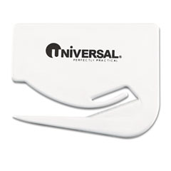 Universal - letter slitter hand letter opener w/concealed blade, 2 1/2-inch, white, 3/pack, sold as 1 pk