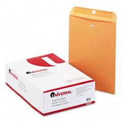Universal 35267 Kraft Clasp Envelope, Side Seam, 28Lb, 10 X 13, Light Brown, 100/Box