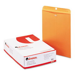 Universal 35270 Kraft Clasp Envelope, Side Seam, 28Lb, 12 X 15 1/2, Light Brown, 100/Box