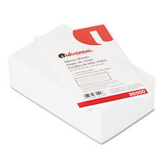 Universal 35500 Loose Memo Sheets, 3 X5, White, 500 Sheets/Pack