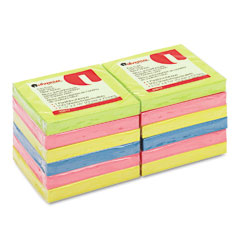 Universal - fan-folded pop-up notes, 3 x 3, 4 neon colors, 12 100-sheet pads/pack, sold as 1 pk