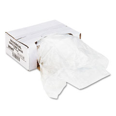 Universal - high-density shredder bags, 13w x 13d x 28h, 100 bags/carton, clear, sold as 1 ct
