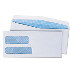 Universal - double window business envelope, #9, white, 500/box, sold as 1 bx