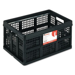 Universal - filing/storage tote storage box, plastic, 22-1/2 x 15-3/4 x 12-1/4, black, sold as 1 ea