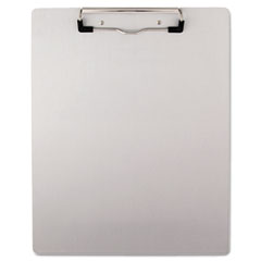Universal - brushed aluminum plastic clipboard, 1/2-inch capacity, holds 8-1/2w x 11h, silver, sold as 1 ea
