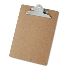 Universal - hardboard clipboard, 1-1/4-inch capacity, holds 8-1/2 x 11, brown, sold as 1 ea