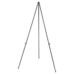 Universal - heavy-duty instant setup foldaway easel, adjusts 25-inch - 63-inch high, aluminum, black, sold as 1 ea