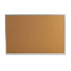 Universal - bulletin board, natural cork, 36 x 24, satin-finished aluminum frame, sold as 1 ea