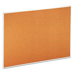 Universal - universal bulletin board, natural cork, 48 x 36, satin-finished aluminum frame, sold as 1 ea