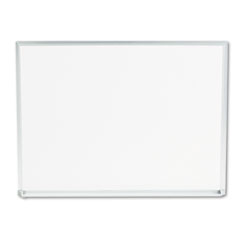 Universal - dry-erase board, melamine, 24 x 18, white, satin-finished aluminum frame, sold as 1 ea