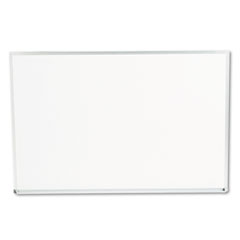 Universal - dry-erase board, melamine, 36 x 24, white, satin-finished aluminum frame, sold as 1 ea