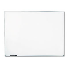 Universal - dry-erase board, melamine, 48 x 36, white, satin-finished aluminum frame, sold as 1 ea