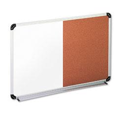 Universal - cork/dry erase board, melamine, 36 x 24, black/gray, aluminum/plastic frame, sold as 1 ea