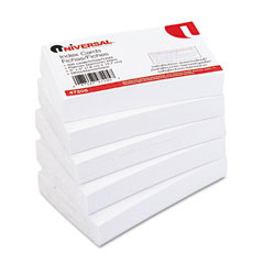 Universal - unruled index cards, 3 x 5, white, 500/pack, sold as 1 pk