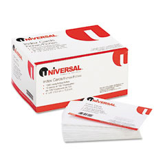 Universal - unruled index cards, 4 x 6, white, 100/pack, sold as 1 pk