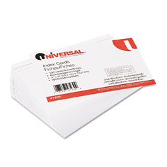 Universal 47230 Ruled Index Cards, 4 X 6, White, 100/Pack