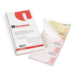 Universal - wirebound message books, 2-3/4 x 5, two-part carbonless, 400 sets/book, sold as 1 ea