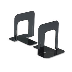 Universal - economy bookends, standard, 4 3/4 x 5 1/4 x 5, heavy gauge steel, black, sold as 1 pr