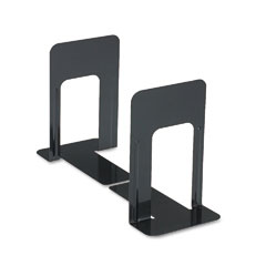 Universal - economy bookends, standard, 5 7/8 x 8 1/4 x 9, heavy gauge steel, black, sold as 1 pr
