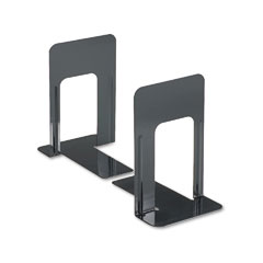 Universal - economy bookends, nonskid, 5 7/8 x 8 1/4 x 9, heavy gauge steel, black, sold as 1 pr