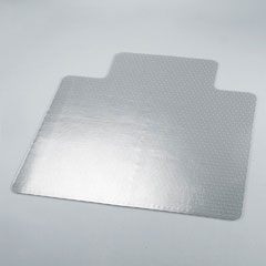 Universal 56807 Cleated Chair Mat For Low And Medium Pile Carpet, 45W X 53L, Clear
