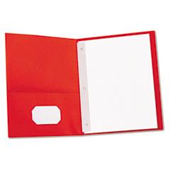 Universal - two-pocket portfolios w/tang fasteners, 11 x 8-1/2, red, 25/box, sold as 1 bx