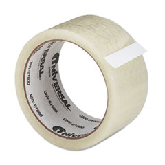 "Universal 61000 General Purpose Box Sealing Tape, 2"" X 55 Yards, 3"" Core, Clear"