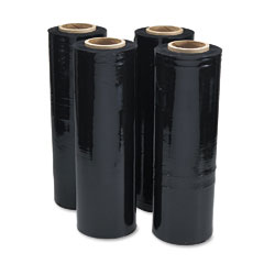 Universal 62120 Black Stretch Film, 18W X 1,500' Roll, 20 Micron (80 Gauge), 4 Rolls/Carton