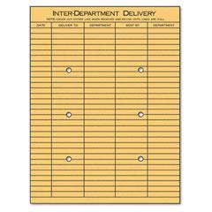 Universal 63568 Light Brown Kraft String & Button Interoffice Envelope, 10 X 13, 100/Box