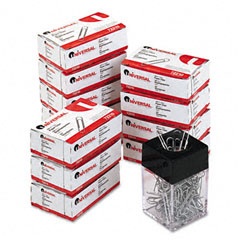 Universal - paper clips, smooth finish, no. 1, silver, 100/box, 10 boxes/pack, sold as 1 pk